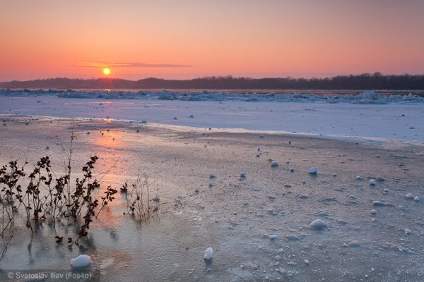 Sunset, Danube River